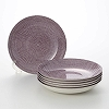 Arabia '24h Avec' Purple Deep Plate 24.5cm (set of 6(