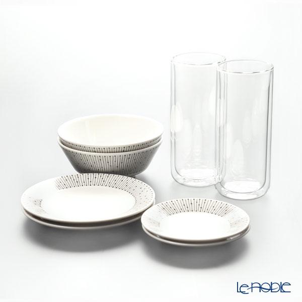 アラビア マイニオ & ビバ スカンジナビア グラス プレート & カップ セット