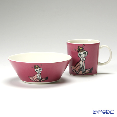Arabia Moomin Classics - Mymble Set of Mug & Bowl, pink, 2008