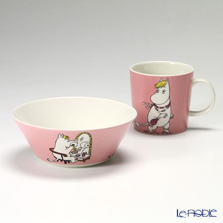 Arabia 'Moomin Classics - Snorkmaiden' Pink 2013 Mug, Bowl (set of 2)
