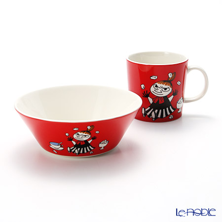 Arabia 'Moomin Classics - Little My' Red 2015 Mug, Bowl (set of 2)
