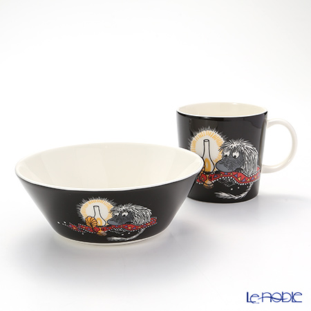 Arabia 'Moomin Classics - Ancestor' Black Mug, Bowl (set of 2)