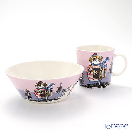 Arabia 'Moomin Classics - Tooticky' Violet [2016] 1019853&1019834 Mug, Bowl (set of 2)