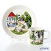 Arabia Moomin Seasonal - Going on Vacation Set of Plate & Mug [Limited Item in Summer 2018]