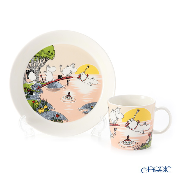 Arabia Moomin Seasonal - Evening Swim Set of Plate & Mug [Limited Item in Summer 2019]
