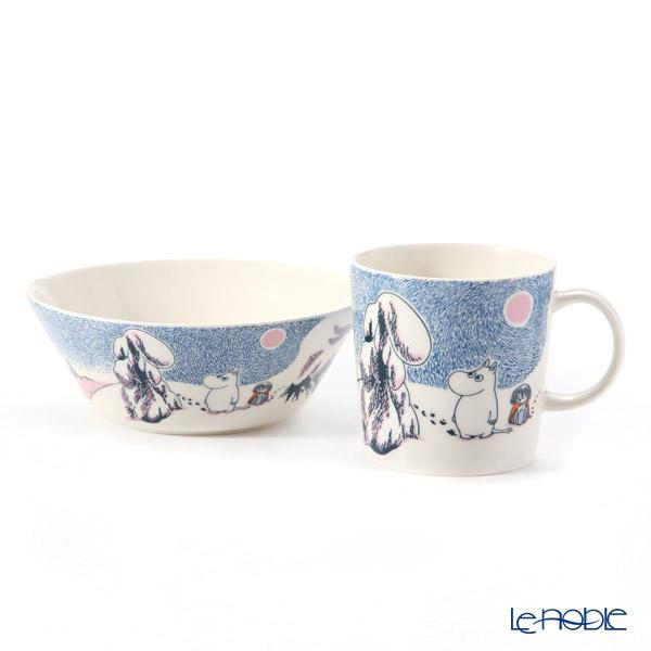 Arabia 'Moomin Seasonal - Crown Snow-Load' Mug, Bowl (set of 2)