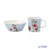 Arabia 'Moomin Classics - Fillyfjonk' Blue Grey 1057216&1057217 Mug, Bow (set of 2 for 1 person)