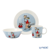 Arabia 'Moomin Classics - Fillyfjonk' Blue Grey 1057216&1057217&1057218 Mug, Bow, Plate (set of 3 for 1 person)