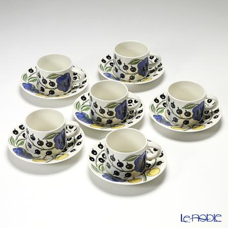 Arabia Paratiisi Colourful Tea cup and saucer 0,28 l 6 pcs