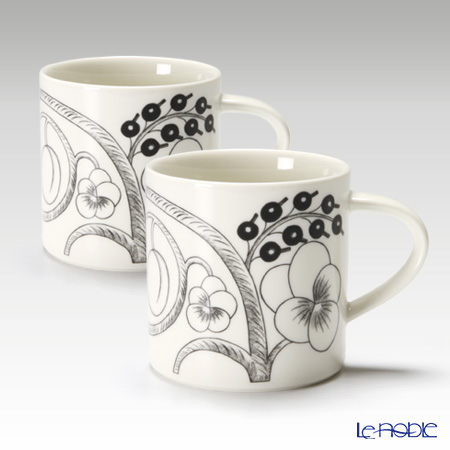 Arabia 'Paratiisi' Black 1005397 Mug 350ml (set of 2)