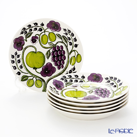 Arabia 'Paratiisi' Purple Plate 21cm (set of 6)