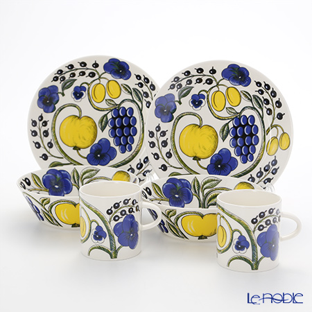 Arabia Paratiisi Colourful Plate, Bowl and Mug (Set for 2)