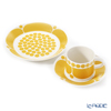 Arabia 'Sunnuntai' Yellow Tea Cup & Saucer, Plate (set of 2 for 1 person)