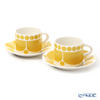 Arabia 'Sunnuntai' Yellow 1028186 Tea Cup & Saucer 280ml (set of 2)