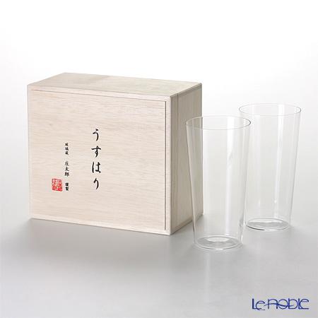 【即日出荷対応】松徳硝子 うすはり タンブラー(L) ペア 【木箱入】