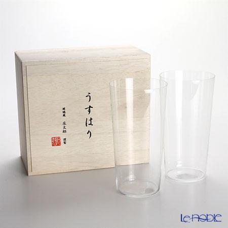 【即日出荷対応】松徳硝子 うすはり タンブラー(LL) ペア 【木箱入】