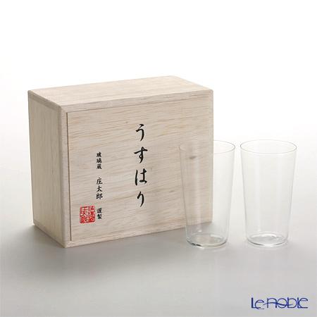 【即日出荷対応】松徳硝子 うすはり タンブラー(SS) ペア 【木箱入】