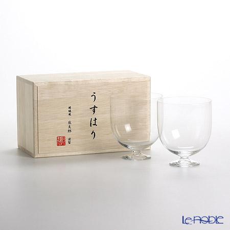 【即日出荷対応】松徳硝子 うすはり ワイン(L) ペア 【木箱入】
