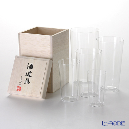 【即日出荷対応】松徳硝子 うすはり 酒道具 【木箱入】