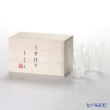 【即日出荷対応】松徳硝子 うすはり SHIWA オールド(M) ペア 【木箱入】