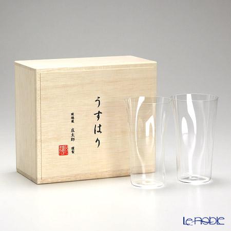 【即日出荷対応】松徳硝子 うすはり SHIWA タンブラー(M) ペア 【木箱入】