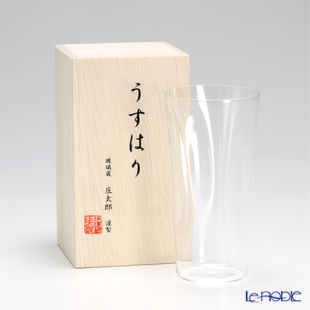 【即日出荷対応】松徳硝子 うすはり SHIWA タンブラー(L) 【木箱入】
