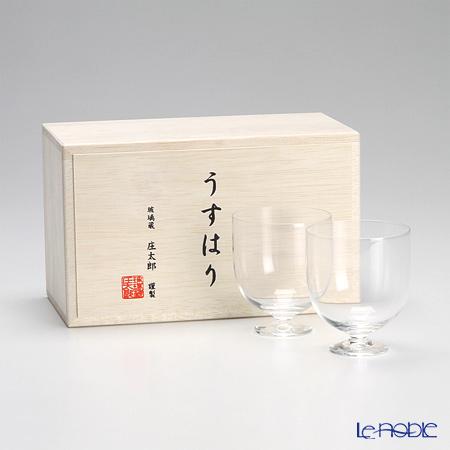 【即日出荷対応】松徳硝子 うすはり ワイン(S) ペア 【木箱入】