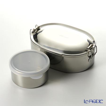 【即日出荷対応】シーガル オーバルランチボックス 弁当箱 ステンレス 16cm(730ml) 【デザートカップ付】