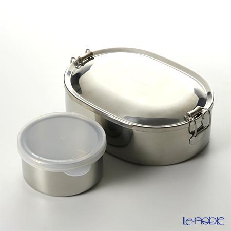 【即日出荷対応】シーガル オーバルランチボックス 弁当箱 ステンレス 17cm(800ml) 【デザートカップ付】