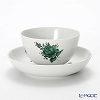 Augarten 'Maria Theresia Simple' Green Tea Bowl & Dish / Japanese Tea Cup & Saucer