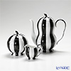 Augarten 'Melon' Black & White Mocha Coffee Pot, Sugar Pot, Creamer (set of 3)