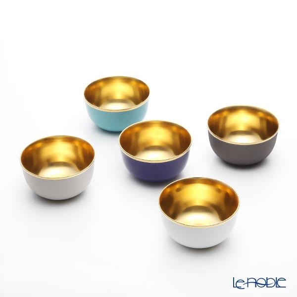 アウガルテン(AUGARTEN) トリアノン(7042)ゴールド シャンパンボウル 5色セット