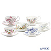 Aynsley pictures changed Tea Cup & Saucer (Oban) 6 guest set