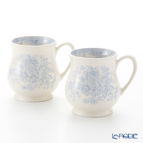 Burleigh Pottery 'Blue Asiatic Pheasants' Sandringham Mug 284ml (set of 2)