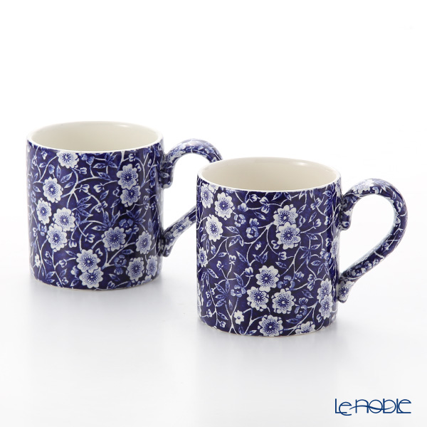 Burleigh Pottery 'Blue Calico' Mug 284ml (set of 2)
