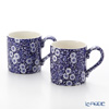 Burleigh Pottery Blue Calico Mug 284 ml / 0.5 pt (Set of 2)
