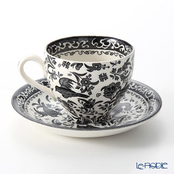 バーレイ ブラックリーガルピーコックティーカップ&ソーサー 200ml ペア