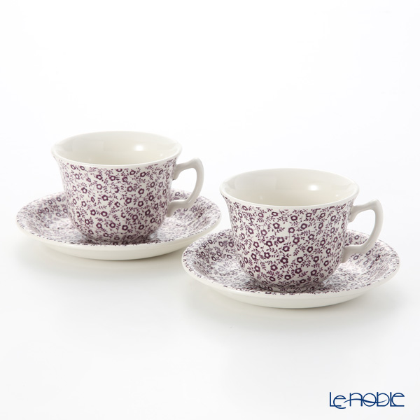 Burleigh Pottery 'Mulberry Felicity' Tea Ccup & Saucer 187ml (set of 2)