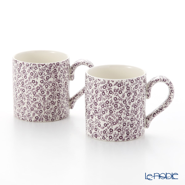 Burleigh Pottery Mulberry Felicity Mug 284 ml / 0.5 pt (Set of 2)