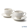 Burleigh Pottery 'Dove Grey Asiatic Pheasants' Tea Cup & Saucer 187ml (set of 2)