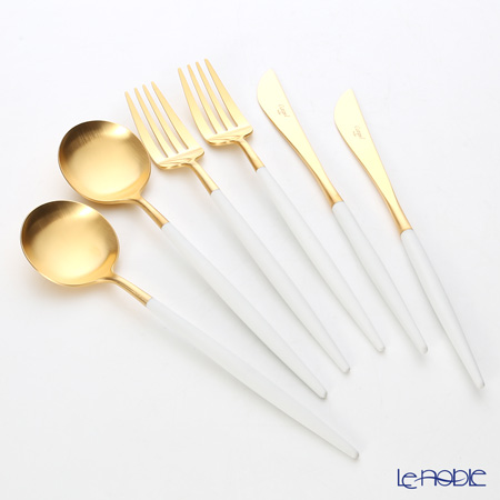 Cutipol GOA White & Matte finish Gold Dinner Table Cutlery set of 12 pcs with brand box