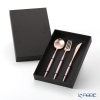 Cutipol Goa Pink Matte Rose Gold Table Spoon, Table Fork and Table Knife set with box