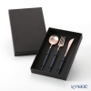 Cutipol Goa Blue Matte Rose Gold Table Spoon, Table Fork and Table Knife set with box