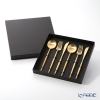 Cutipol 'MOON' Matte finish Gold Table Spoon, Fork, Knife (set of 6 for 2 persons) with brand box