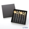 Cutipol 'GOA' Grey & Matte finish Gold Table Spoon, Fork, Knife (set of 6 for 2 persons) with brand box