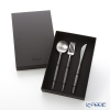 Cutipol 'GOA' Grey & Matte finish Silver Table Spoon, Fork, Knife (set of 3 for 1 person) with brand box
