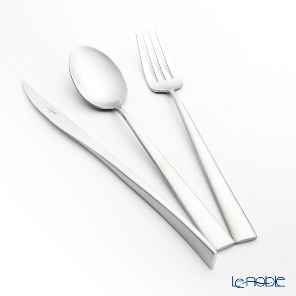 Cutipol 'DUNA' Matte finish Silver Table Spoon, Fork, Knife (set of 3 for 1 person) with brand box
