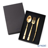 Cutipol 'DUNA' Matte finish Gold Table Spoon, Fork, Knife (set of 3 for 1 person with brand box)