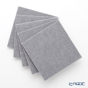 DAFF square coaster Light grey 10 cm 5 pieces