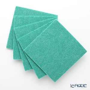 DAFF square coaster Green 10 cm 5 pieces